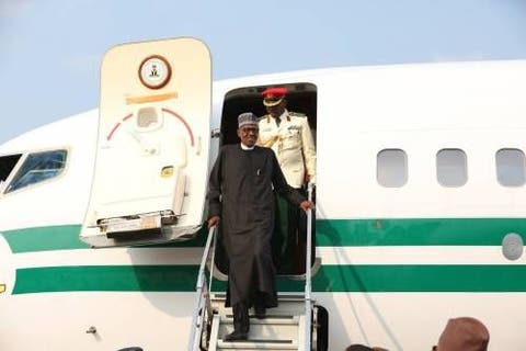 Buhari returns to Abuja after 'private visit' to UK